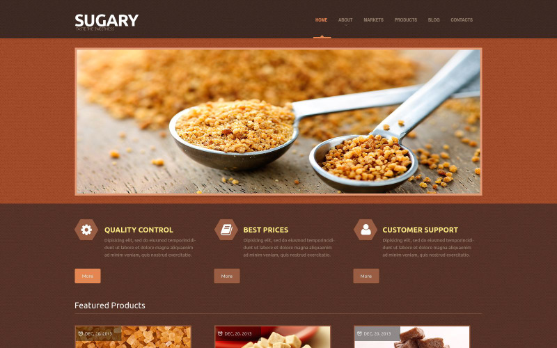 Tema WordPress adaptable para tienda de alimentos