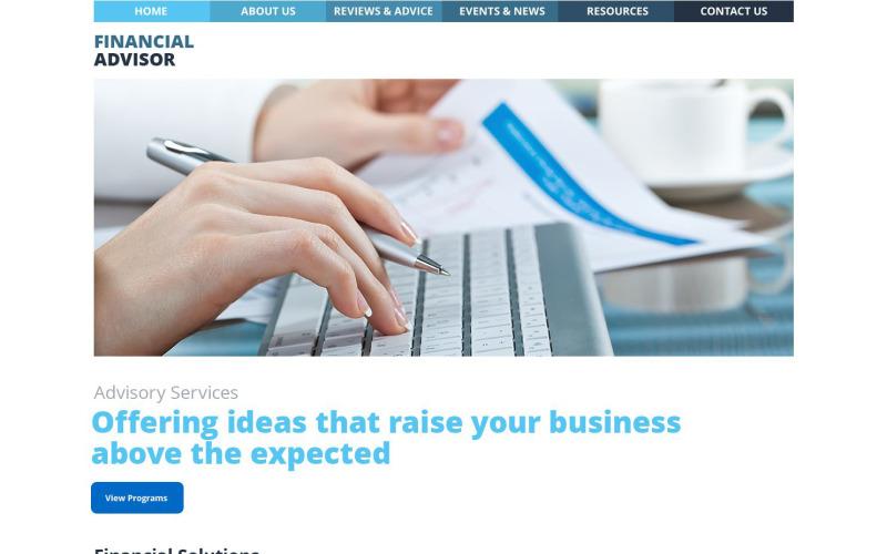 Тема WordPress для финансового консультанта