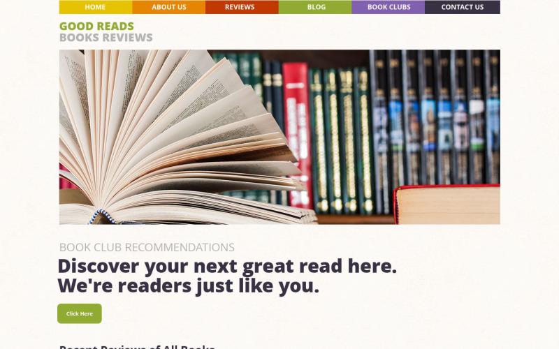 Тема WordPress с обзорами книг