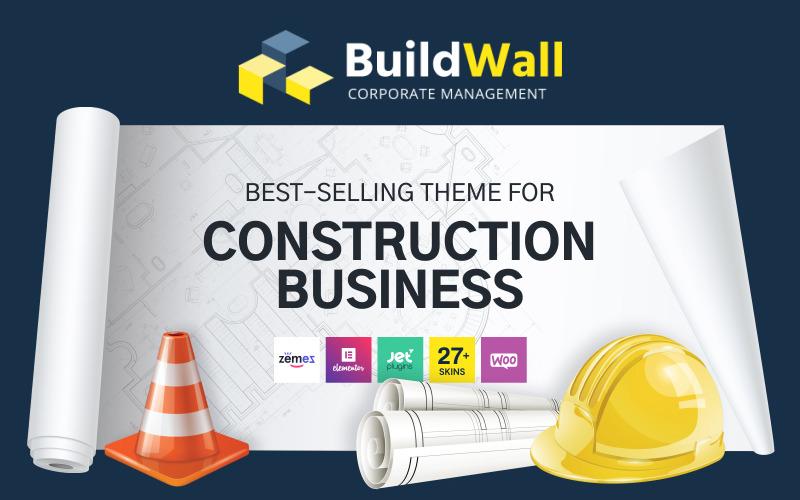 BuildWall - Thème WordPress polyvalent pour entreprise de construction
