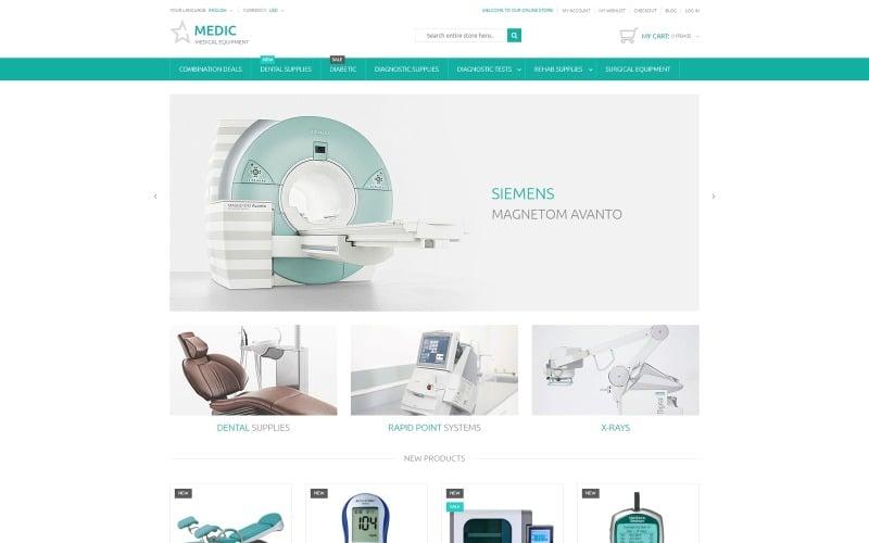 Magento téma pro lékařské vybavení
