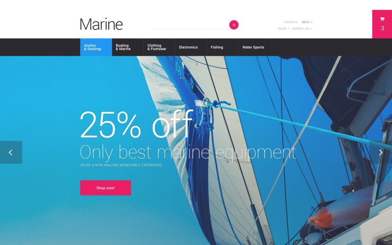 Marine Adventure PrestaShop Theme