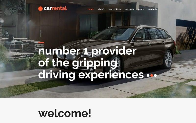 Modèle Joomla de voitures de location