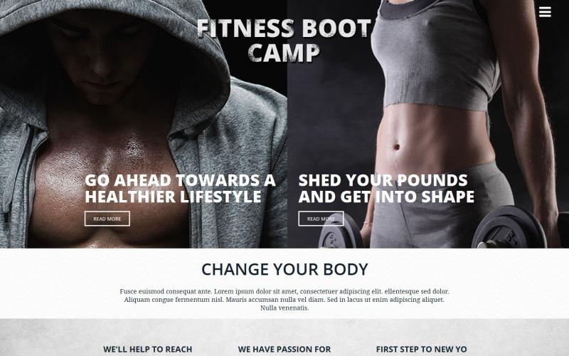 Modello di sito Web del club di fitness