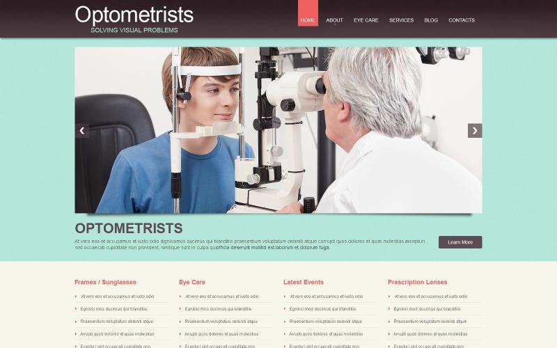 Tema WordPress reattivo dell'ottico optometrista