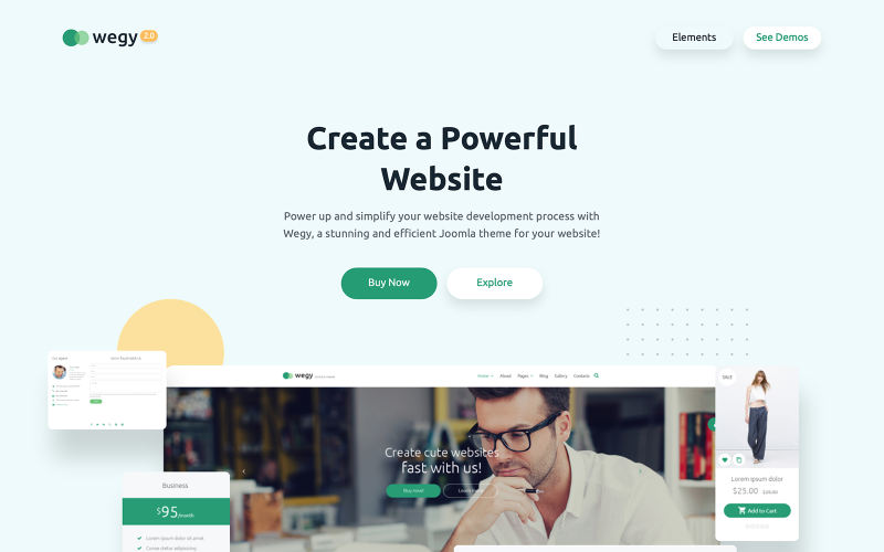 Wegy - Многоцелевой шаблон Joomla для бизнеса
