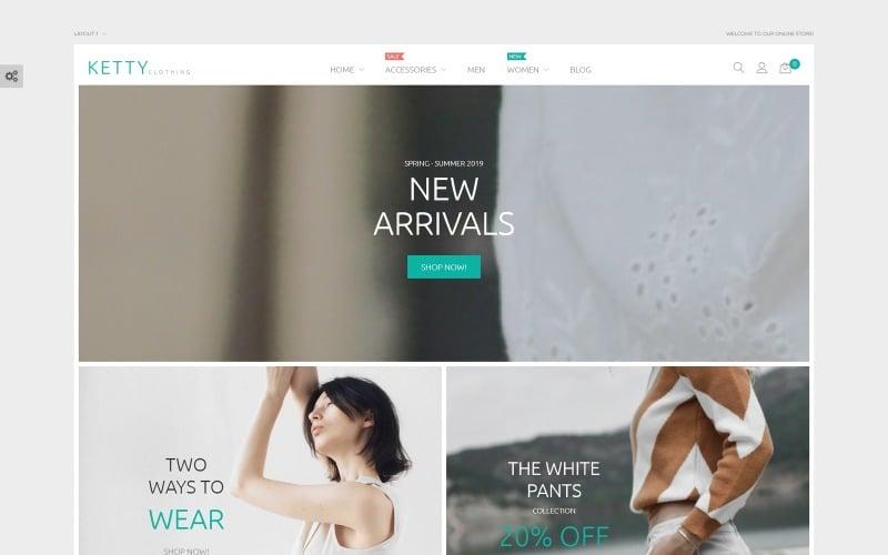 Ketty - módní obchod Magento téma