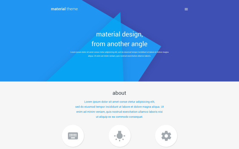 Material Design Portfolio WordPress Theme