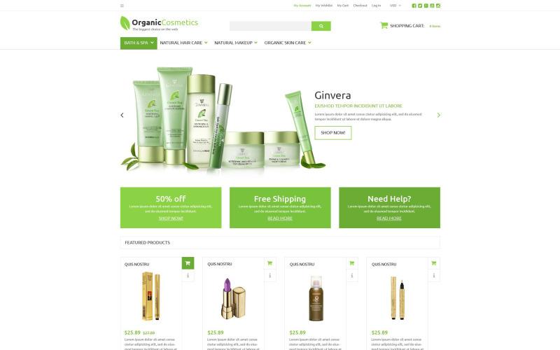 Organik Ürünler Mağazası ZenCart Şablonu