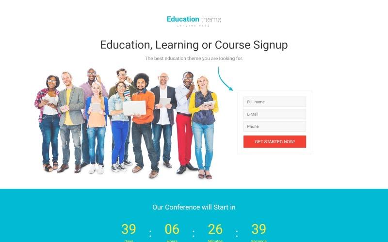 Шаблон адаптивной целевой страницы для образования
