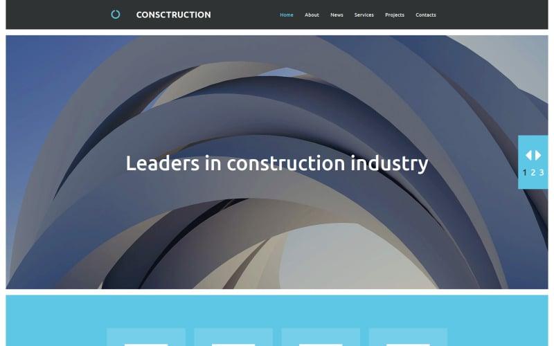 Construction Company Moto CMS 3 Template