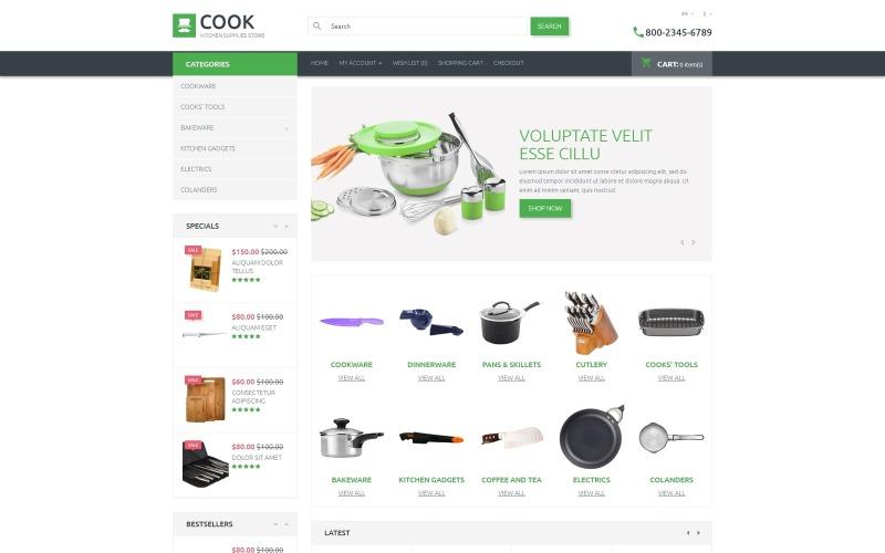 Modèle OpenCart de magasin de fournitures de cuisine