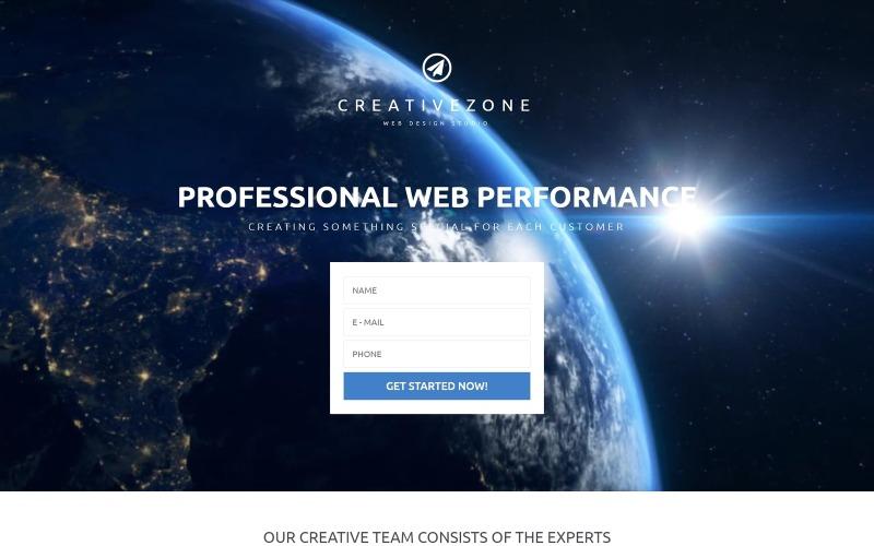 Modello di pagina di destinazione gratuito di Design Studio