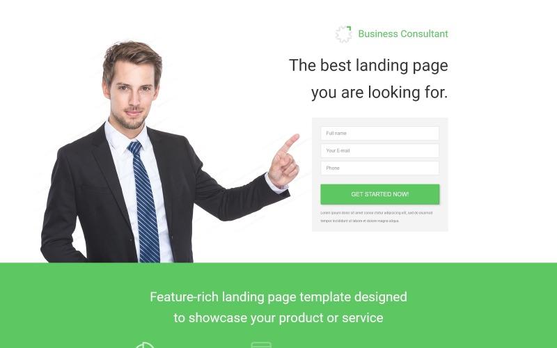 Modello di pagina di destinazione reattiva per aziende e servizi