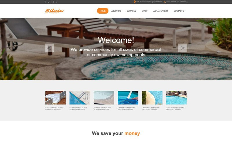 Swimming Pool Muse Template