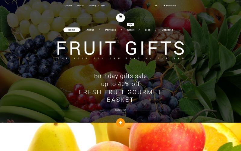 Tema de WooCommerce de regalos de frutas