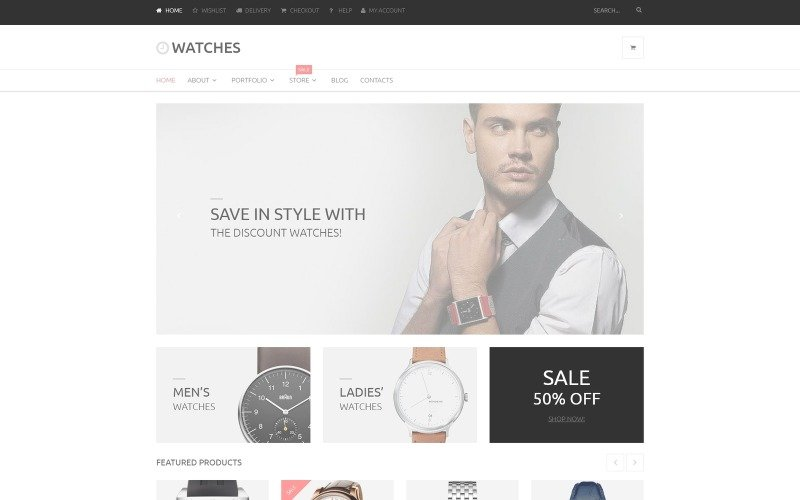 Watches Online Store WooCommerce Theme