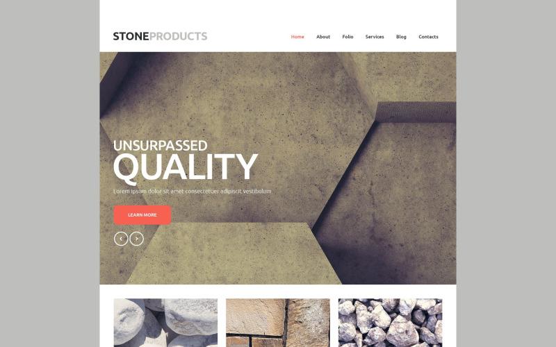 Website sjabloon voor vloerproducten