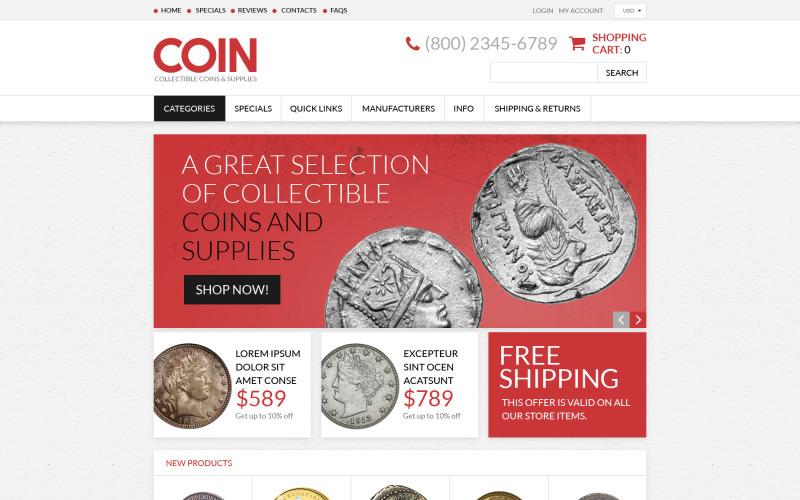 Antiquitätengeschäft Responsive ZenCart Vorlage