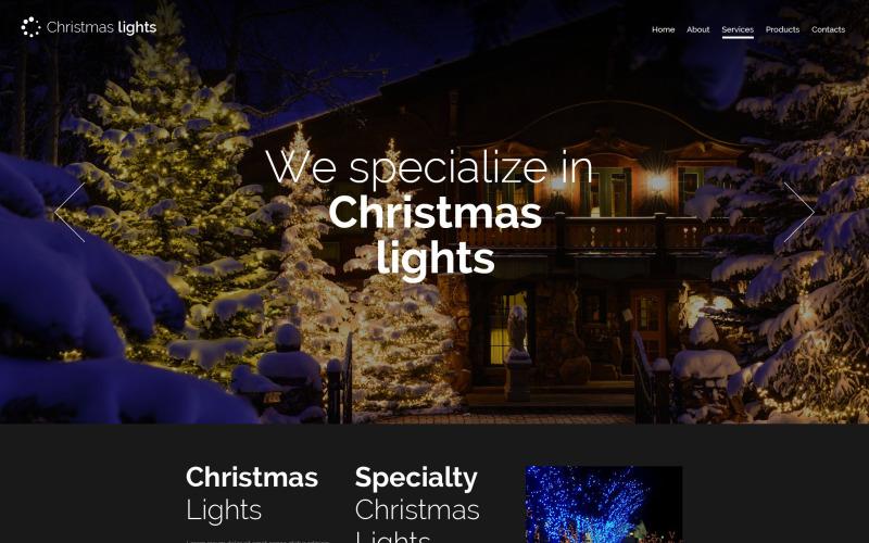 Christmas Responsive Website Template