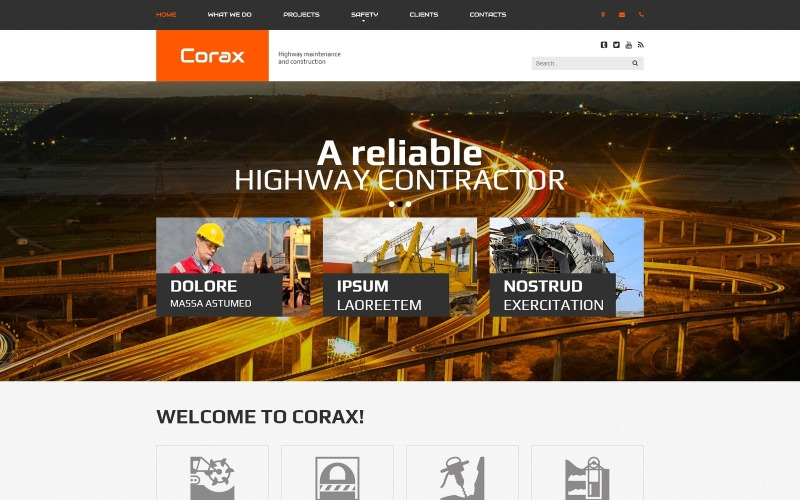Corax Website Template
