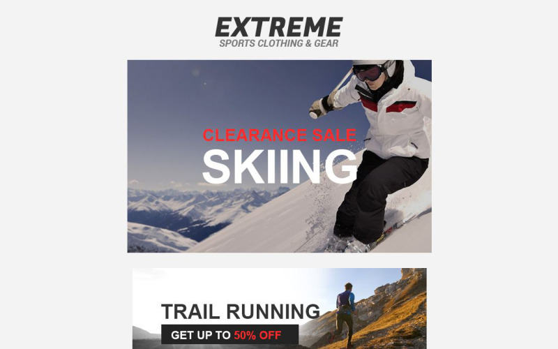 Extreme Sports Responsive Newsletter Template