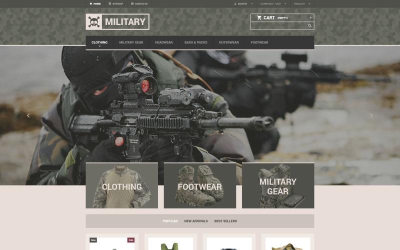 Military Gear Store PrestaShop Theme