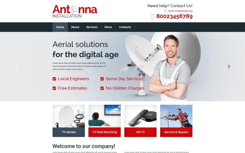 Satellite TV Responsive Website Template