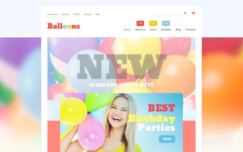 Tienda de globos Tema WooCommerce