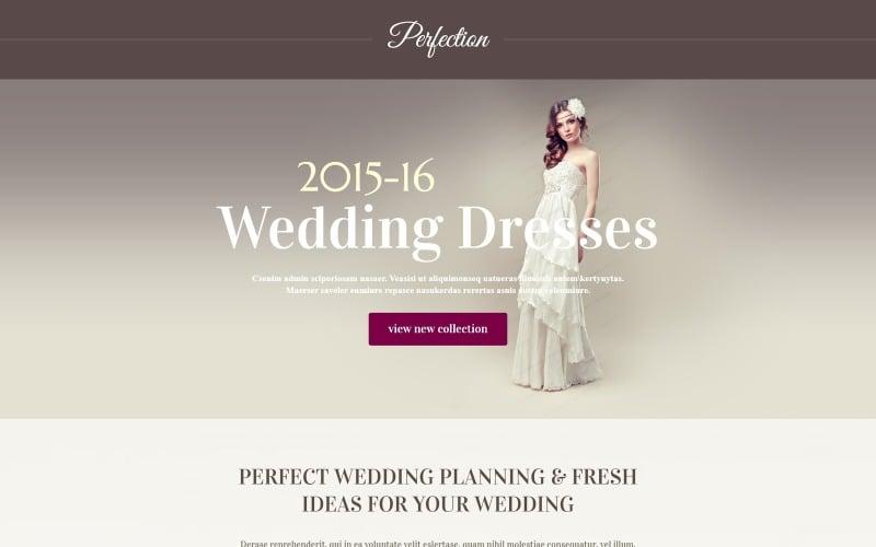 Wedding Venues Responsive Landing Page Template