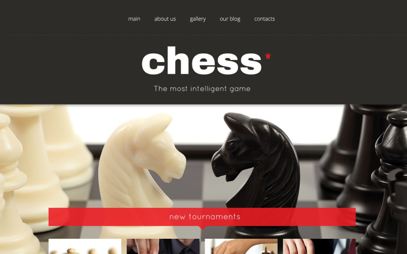 Адаптивная тема WordPress для шахмат