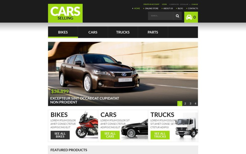 Plantilla VirtueMart de concesionario de automóviles