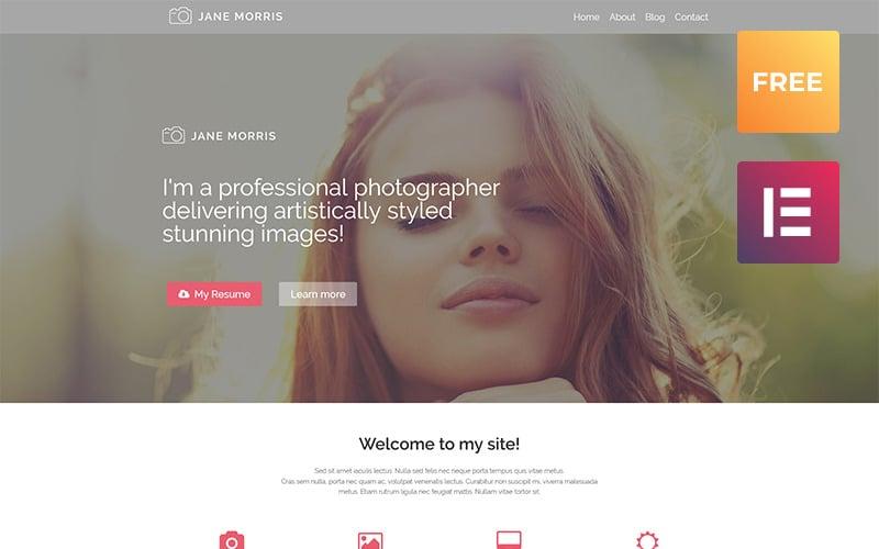 Portfolio fotografów Darmowy motyw WordPress