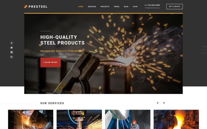 Presteel - Steelworks Multipage Creative HTML Website Template