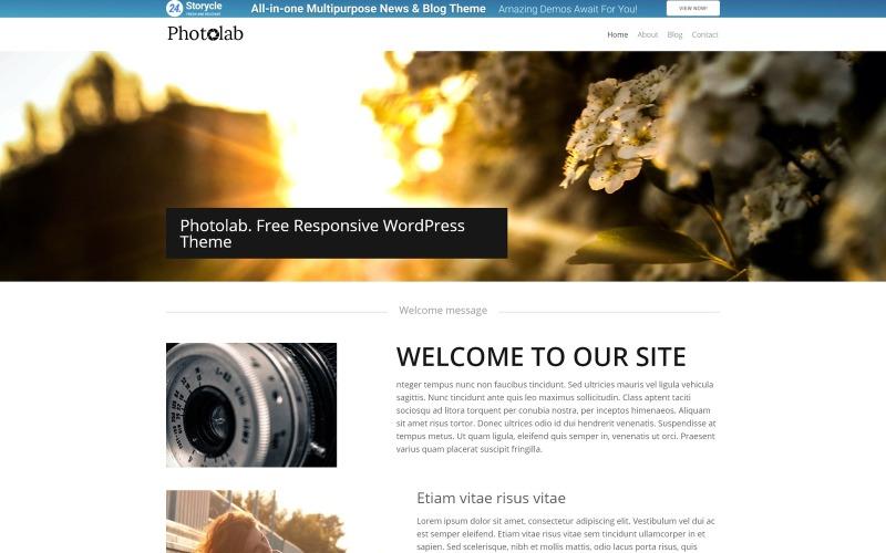Reklamní fotografie WordPress motiv
