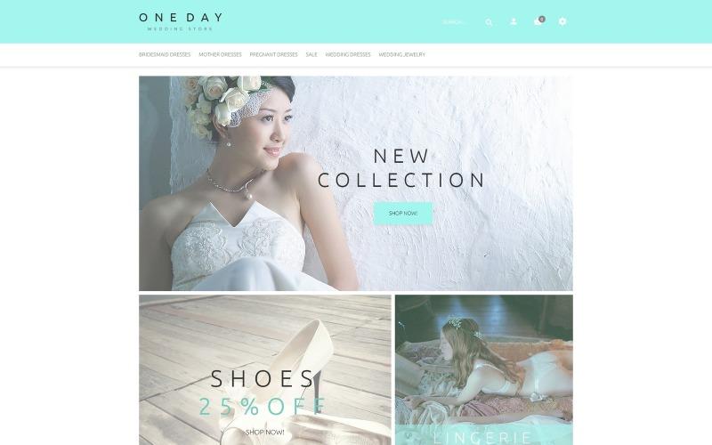 Šablona OpenCart pro svatební nakupování