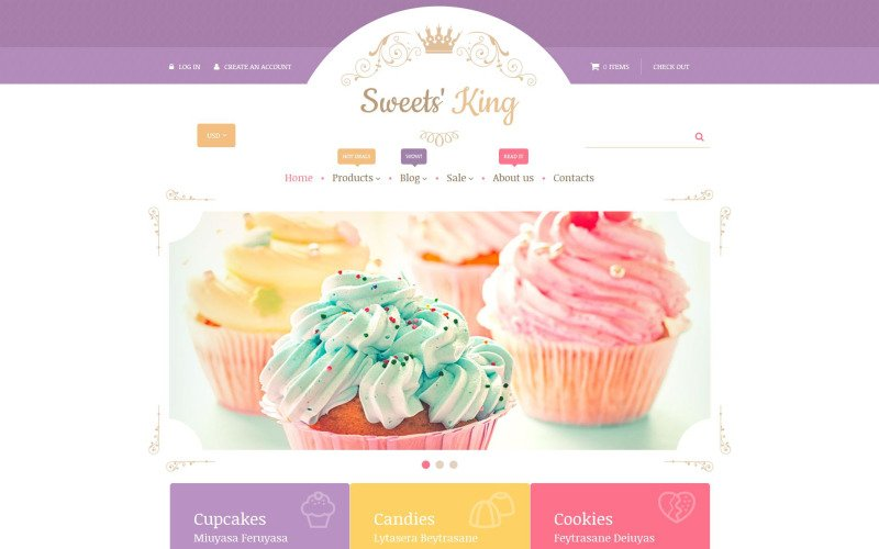 Sweets King Shopify Theme