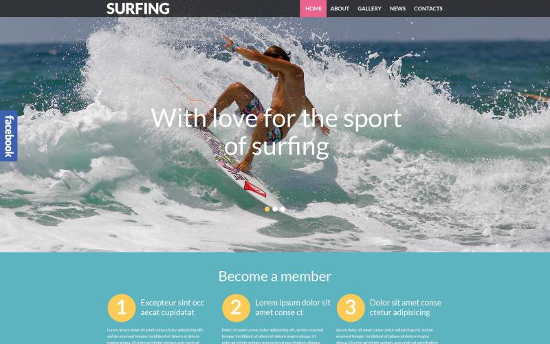 Szörfözés az érzékeny WordPress témában