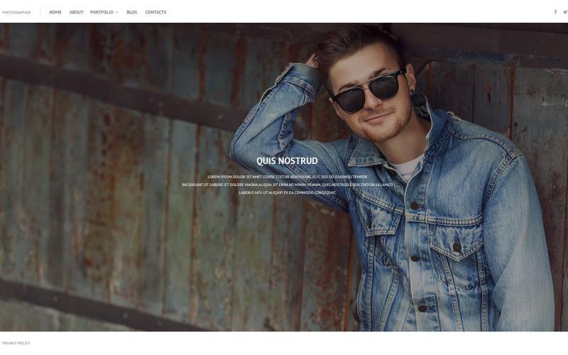Tema WordPress per portfolio online
