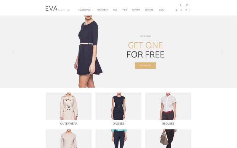 Thème PrestaShop pour EVA Clothing
