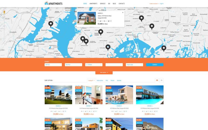 WordPress тема агентства по аренде квартир