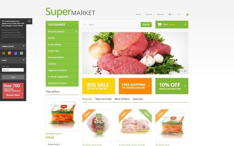 Supermarket PrestaShop Theme