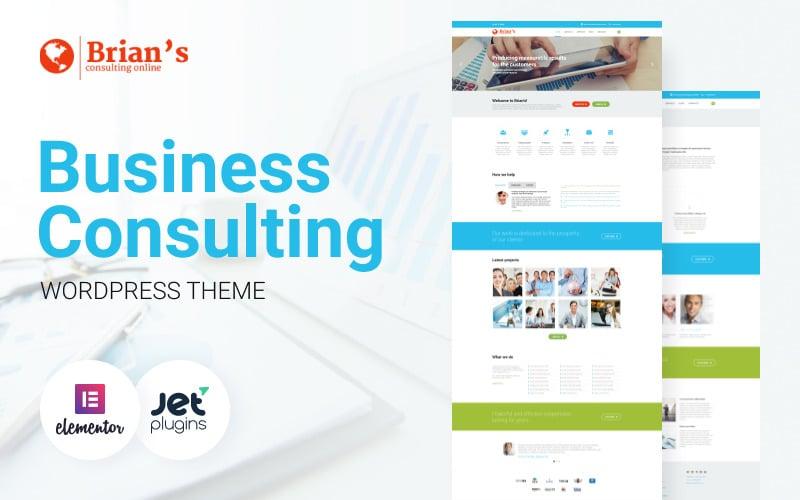 Brians - Consulting Multipurpose Classic WordPress Elementor Theme