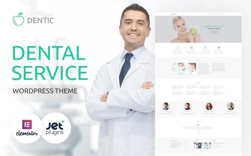 Dentic - многоцелевая классическая тема WordPress Elementor для стоматологии