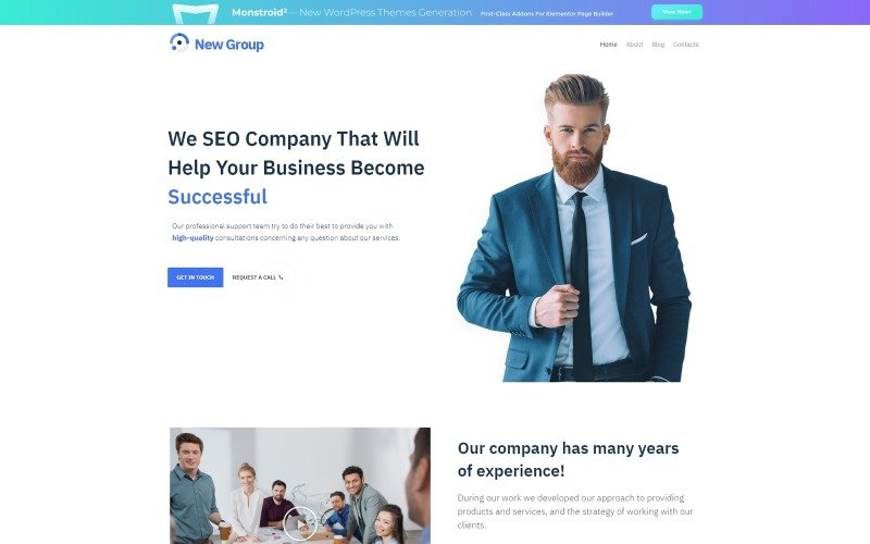 Free WordPress Theme for Consulting Firm WordPress Theme
