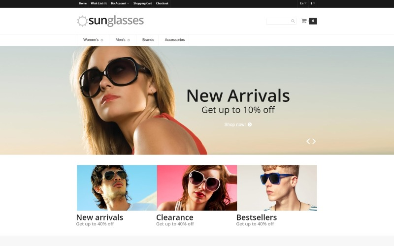 Eye Glasses Responsive OpenCart Template