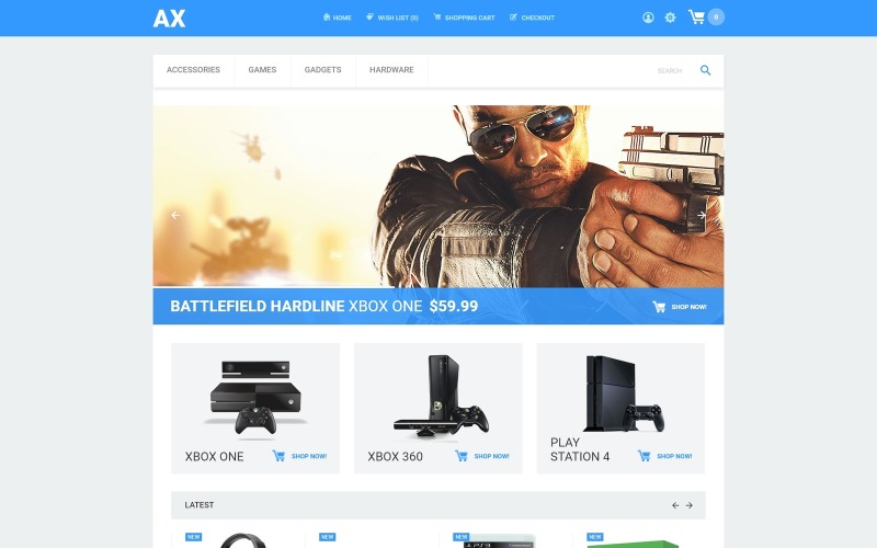 Games and Consoles Store OpenCart Template