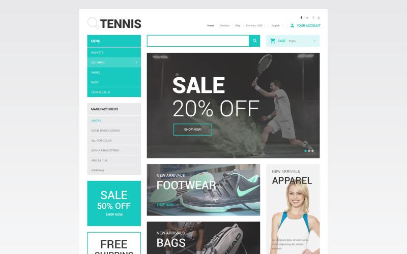 Tennis Accessories Store PrestaShop Theme
