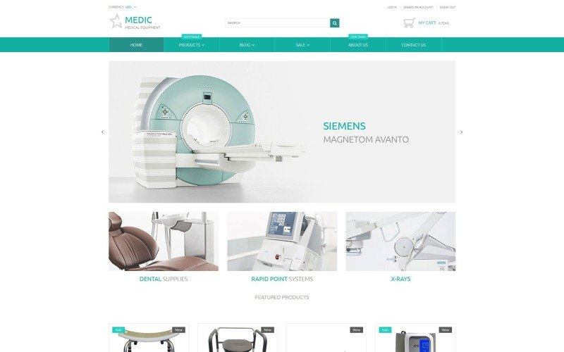 Clean Medical Equipment Responsive Shopify Theme