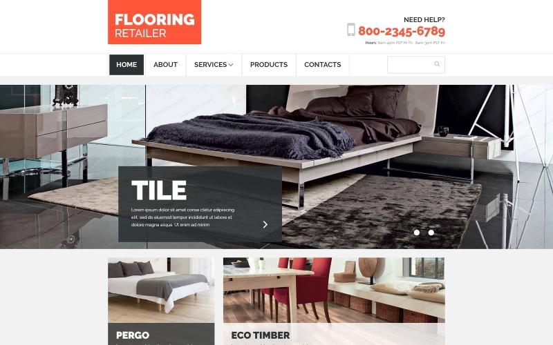 Modelo de site responsivo de piso